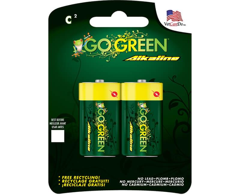 2 Pack C Alkaline Batteries