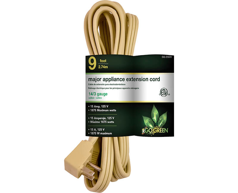 9' 14/3 Gauge Air Conditioner Cord - Beige