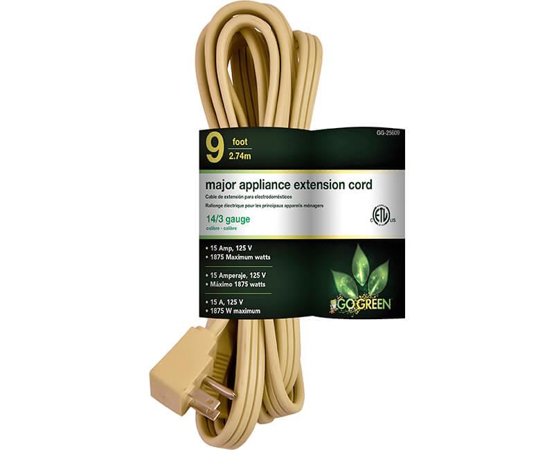 9' 14/3 Gauge Air Conditioner Cord - Beige