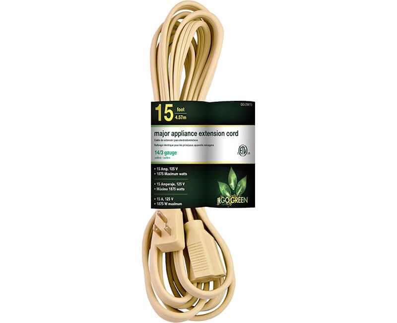 15' 14/3 Gauge Air Conditioner Cord - Beige