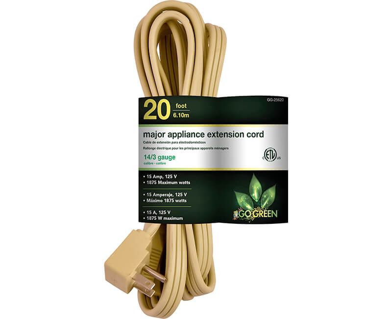 20' 14/3 Gauge Air Conditioner Cord - Beige