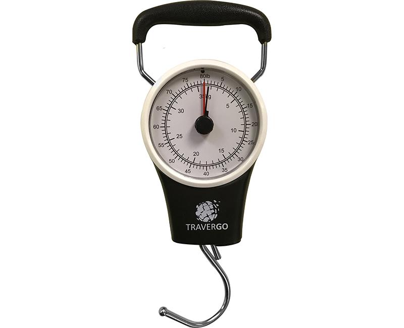 Black Analog Luggage Scale W/ Hook