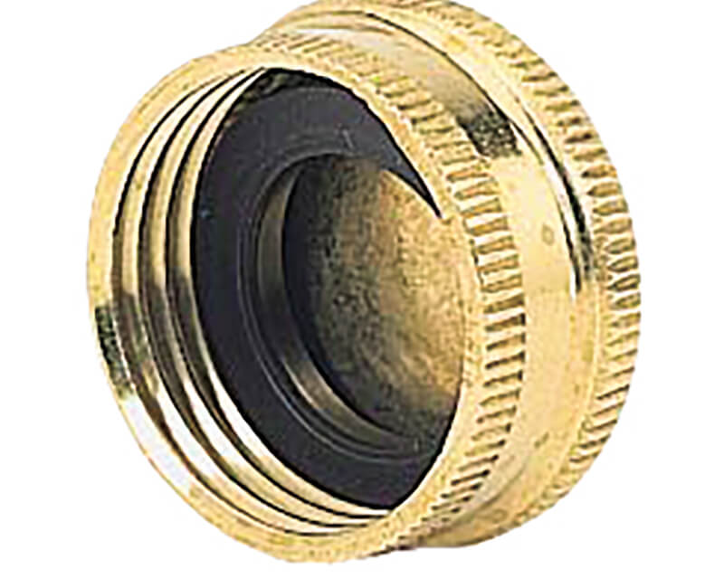 Brass Hose Cap - 2 Per Card