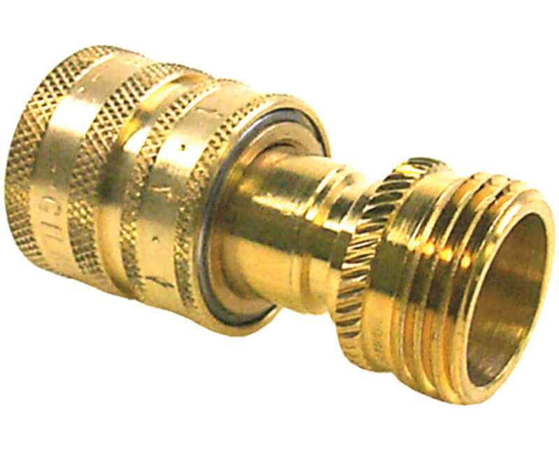 Solid Brass Male & Female Quick Connector Set