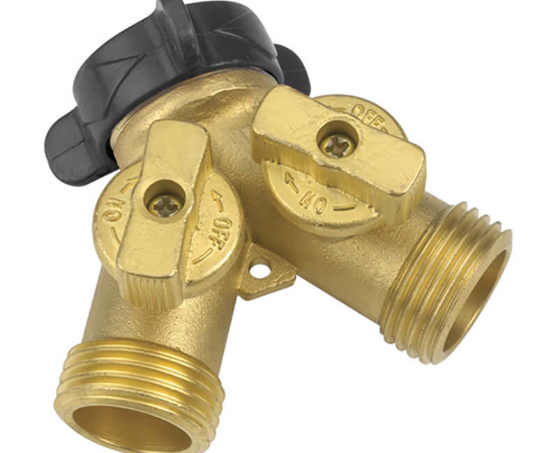 Solid Brass Y Shut-Off Connector