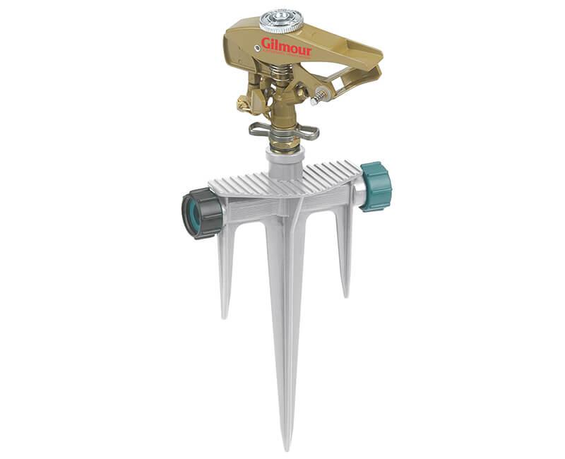 Zinc Pulsating Sprinkler With Spike Base - Carded