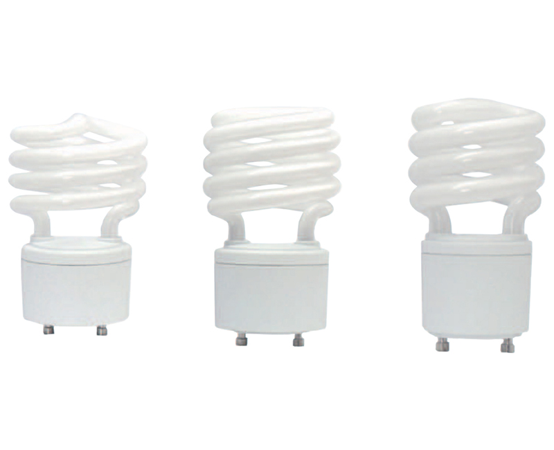 GU24 Base T2 Mini Spiral CFL 65K - 13W