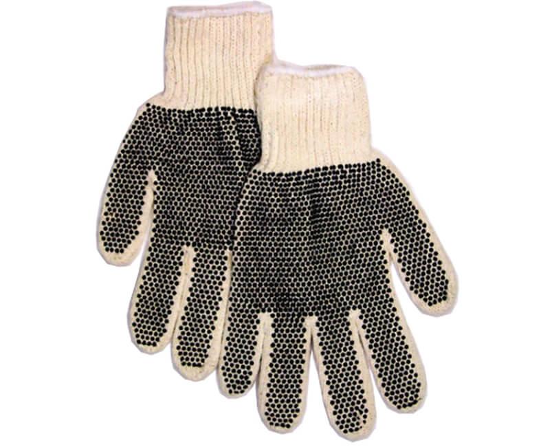 Plastic Dot White Cotton Gloves
