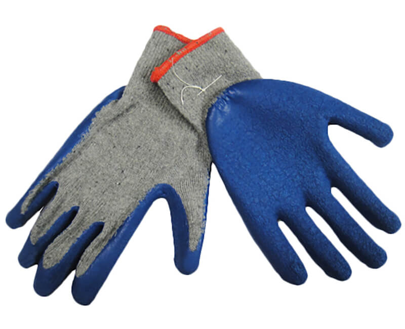 Heavy Cotton Glove With Rubber Dipped Palm - X-Large