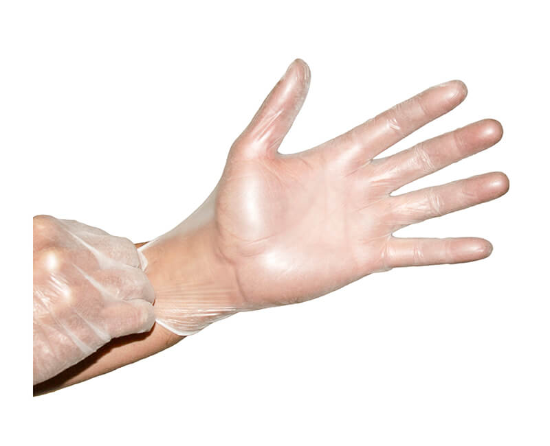 Powdered Vinyl Gloves - Large