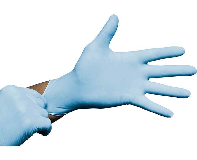 Blue Nitrile Powdered Gloves Large - 100 Per Box