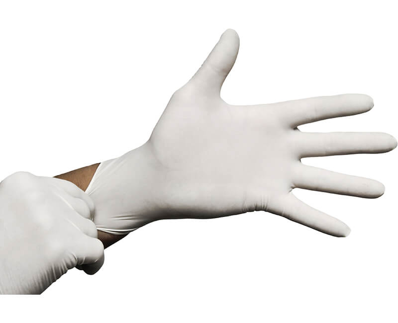 Powdered Latex Gloves - Large