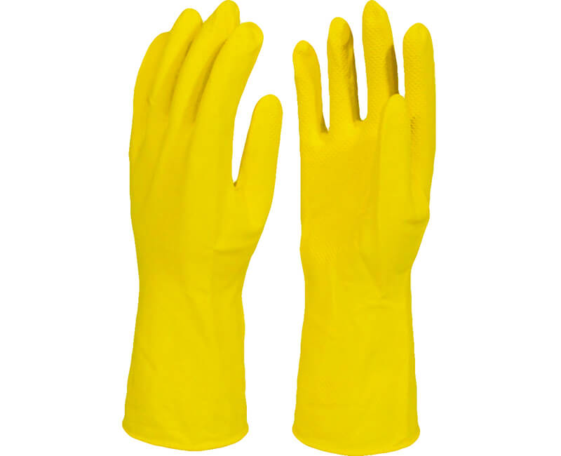Yellow Latex Gloves - Large