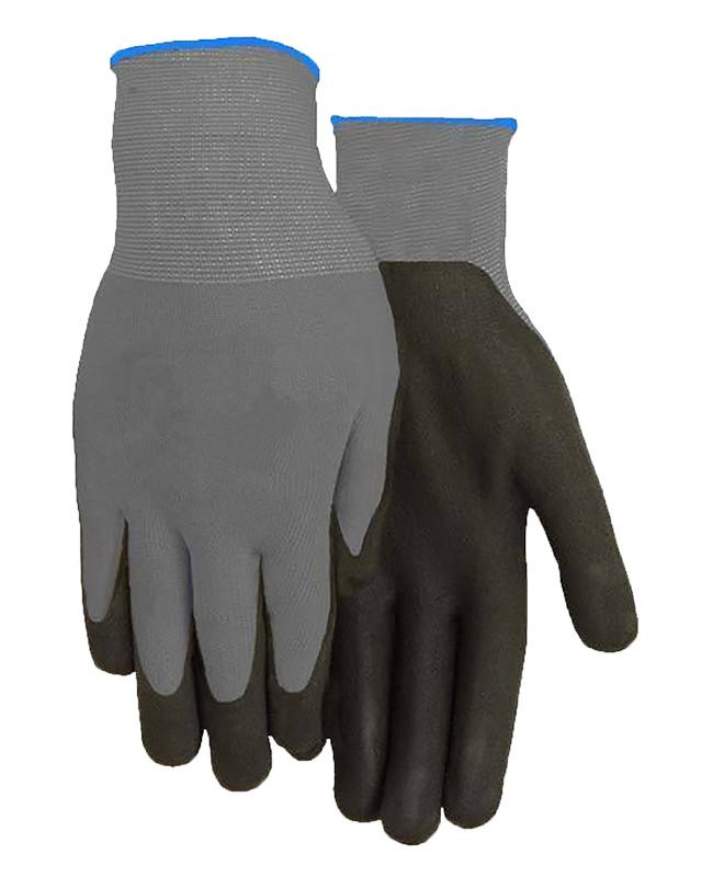 Black Foam Ccoated Nylon Gloves Large