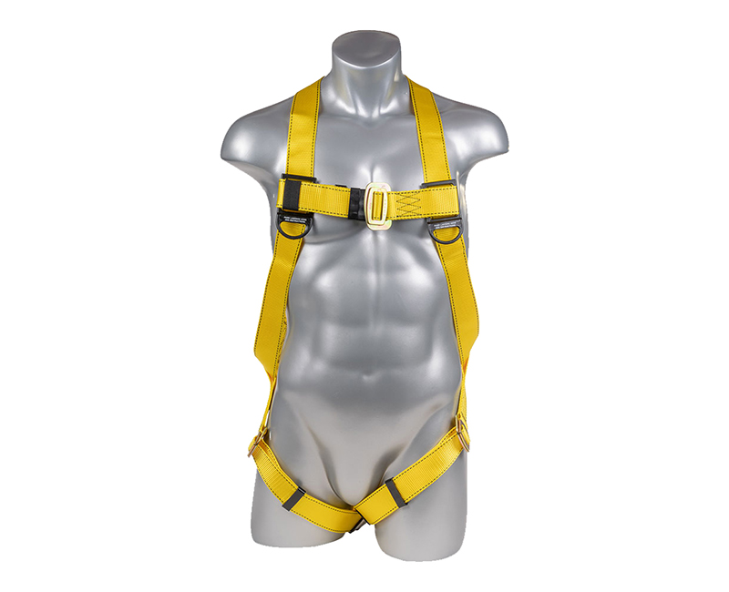 Yellow Full Body Harness W/ 3 Point Adjustment + Dorsal D Ring