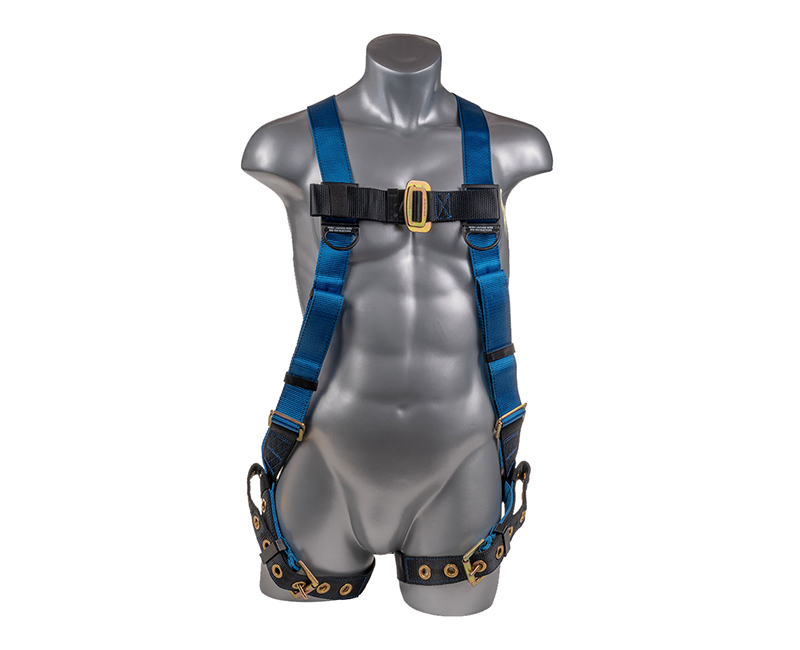 Top Black Bottom Full Body Harness W/ 5 Point Adjustment + Dorsal D Ring Side D Ring Gromet Straps