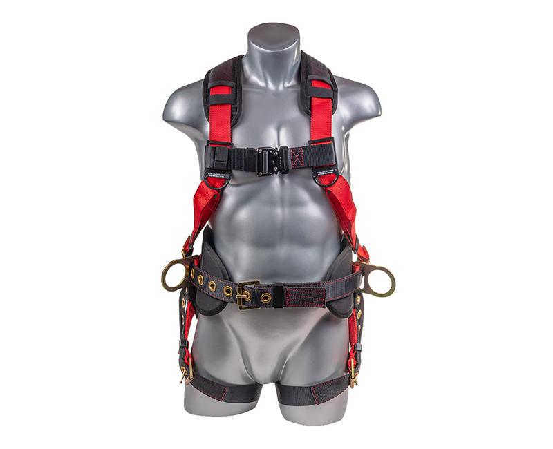Top Black Bottom Full Body Harness W/ 5 Point Adjustment + Dorsal D Ring Gromet Leg Straps Premium Harness Padded Shoulder Universal Size