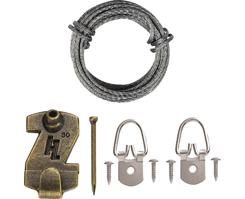 1 Hole D Ring Wire Kit - 30 Lb.