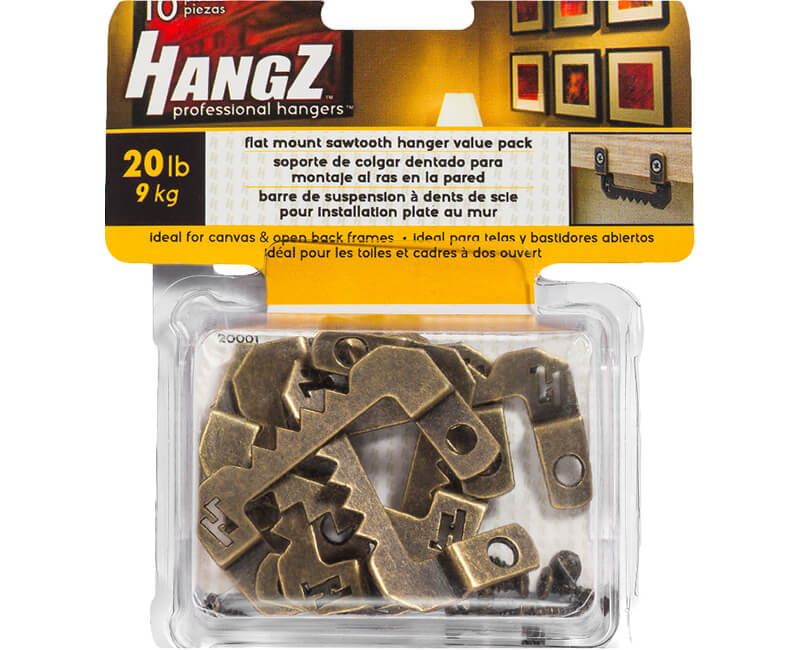 Flat Mount Sawtooth Hanger - Value Pack