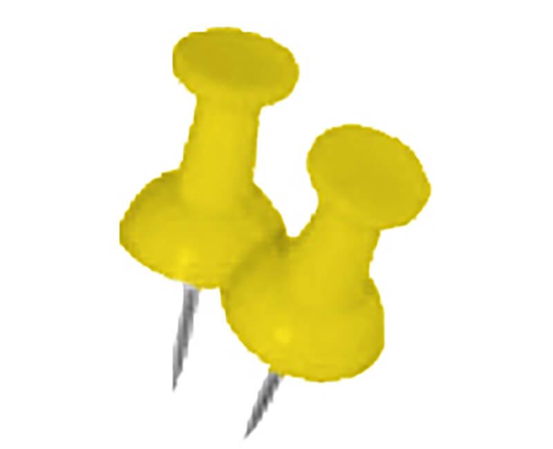 Yellow Push Pin - 16 PCS
