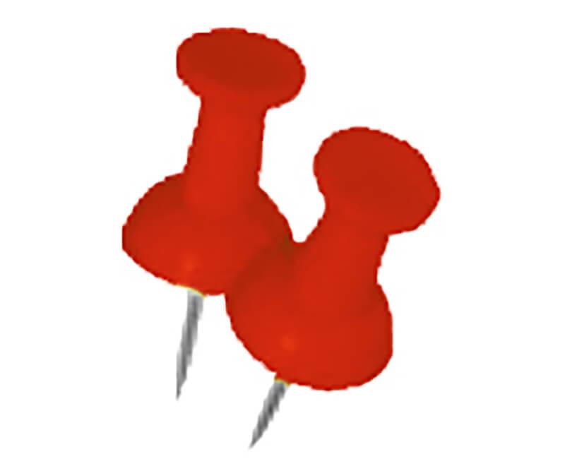 Red Push Pin - 16 PCS
