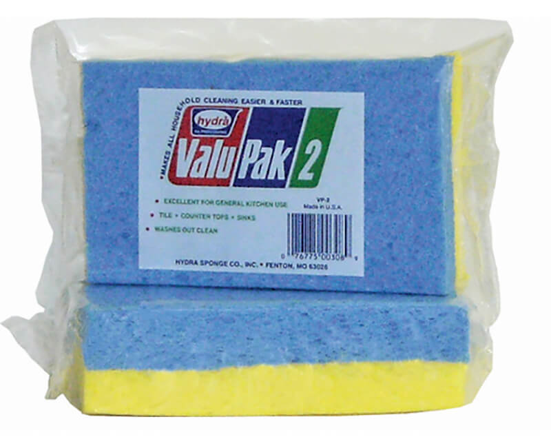 "6"" X 3-1/2"" X 5/8"" Cellulose Sponge - 2 Pack"