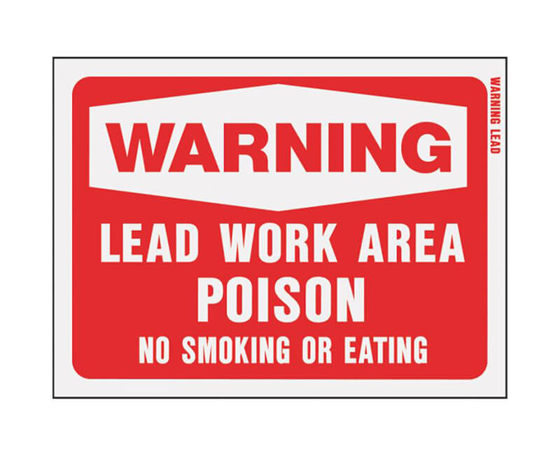 "9""X12"" X 12"" Signs - Warning Work Area"