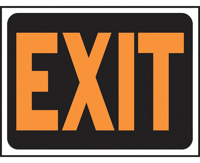 "9"" X 12"" Signs - Exit"