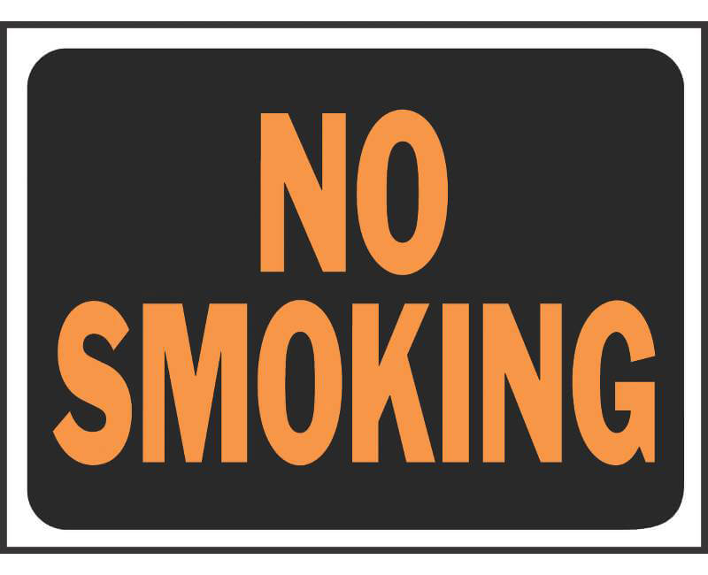 "9"" X 12"" Signs - No Smoking"