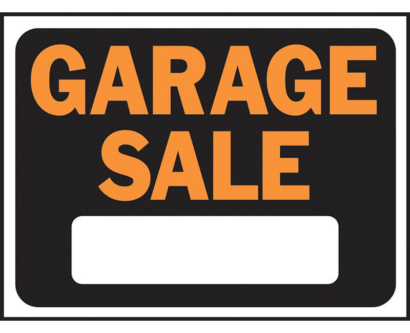 "9"" X 12"" Signs - Garage Sale"