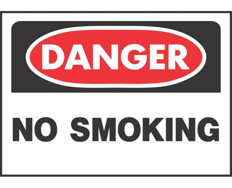 "10"" X 14"" OSHA Signs - Danger No Smoking"