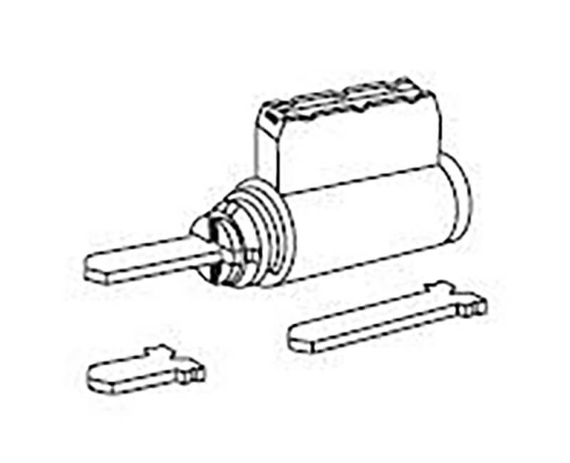 Replacement Cylinder with 1011P Keyway