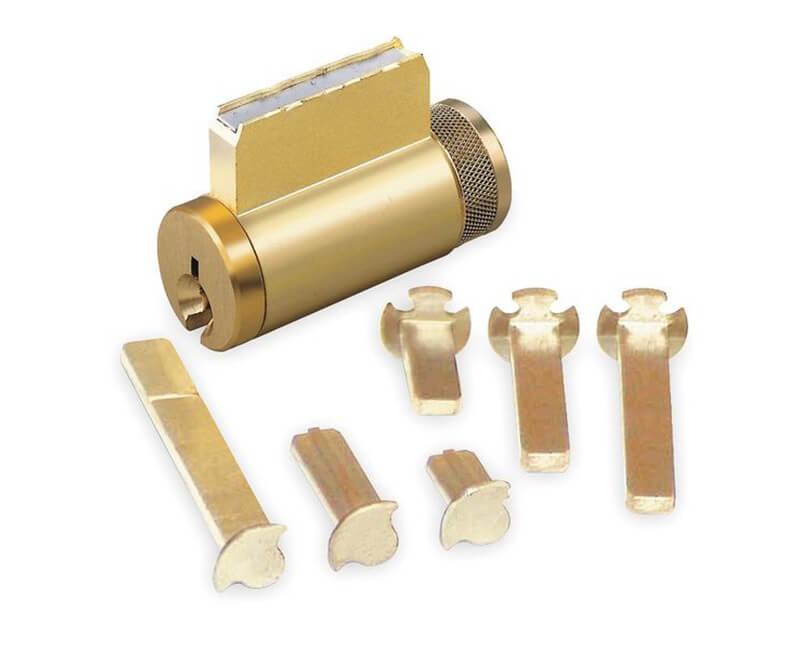 Knob & Deadbolt Cylinder Arrow Key Way Brass