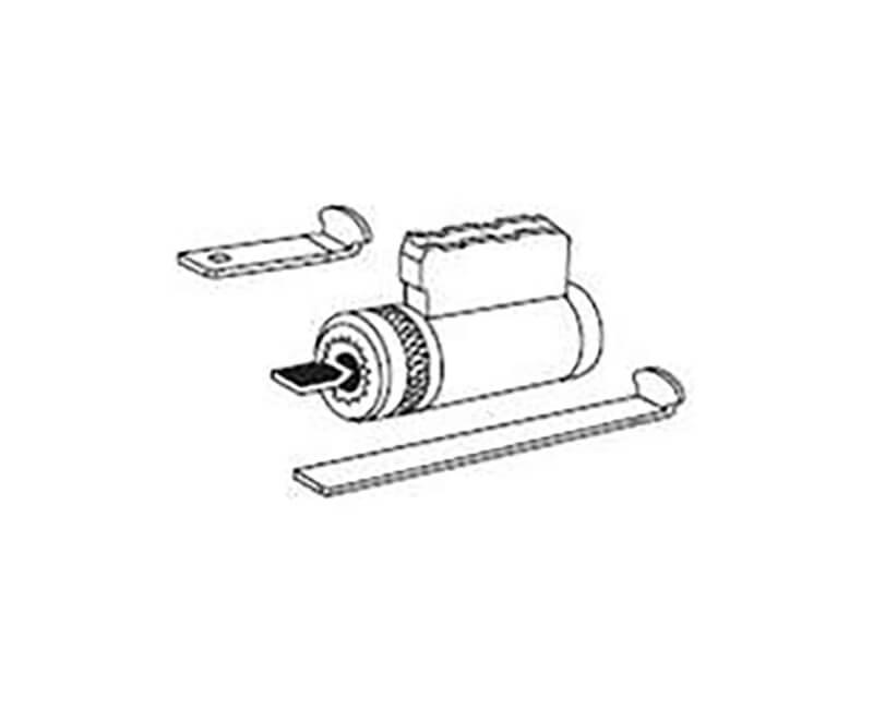 Key In Lever Deadbolt Cylinder SC1 Keyway US26D