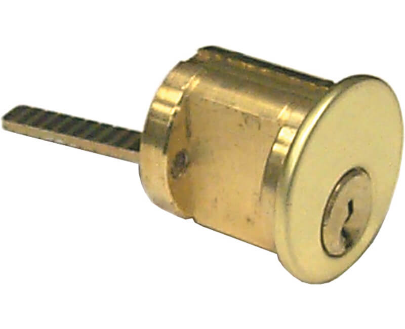 Ilco Rim Cylinder Schlage C-K Keyway Brass Finish