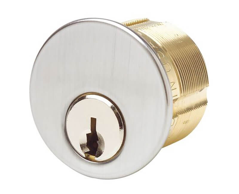 "1-1/8"" Mortise Cylinder AR1 Keyway Reg Cam US26D KA2"