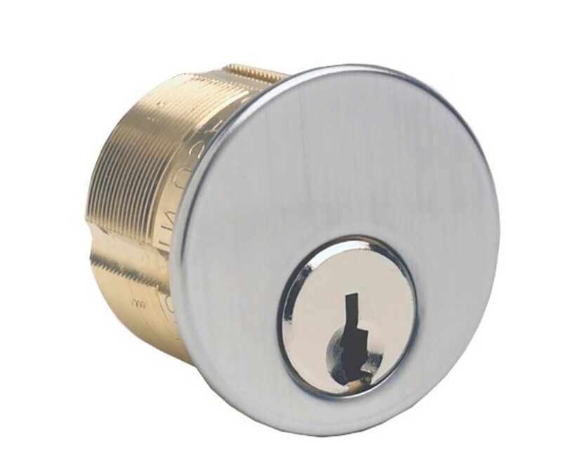 "1-1/8"" Ilco Mortise Cylinder Arrow Keyway US26D"