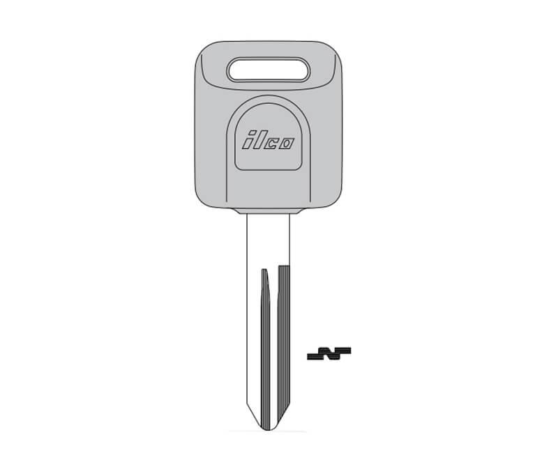 Plastic Head Key For Nissan 2002 Truck