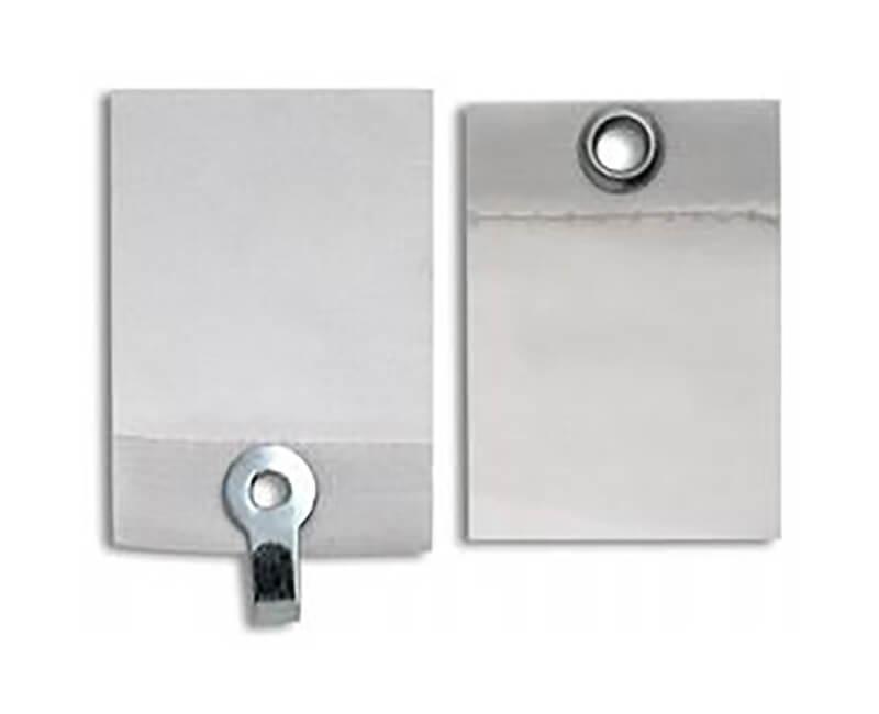 White Adhesive Cloth Hangers - 5 Per Card