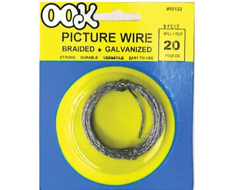 9' Braided Steel Wire - 20 LB
