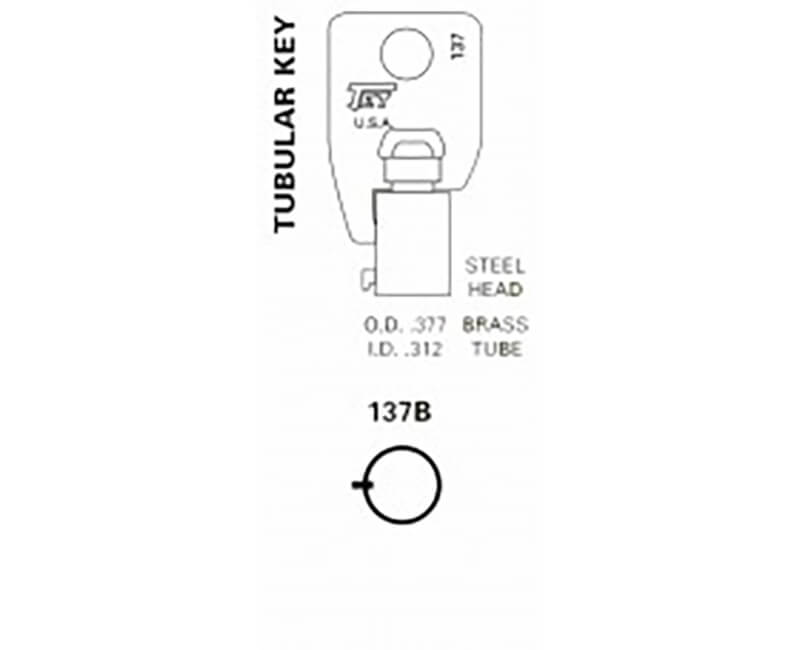 Key Blanks - 50 Pack All Tubular Brass Round