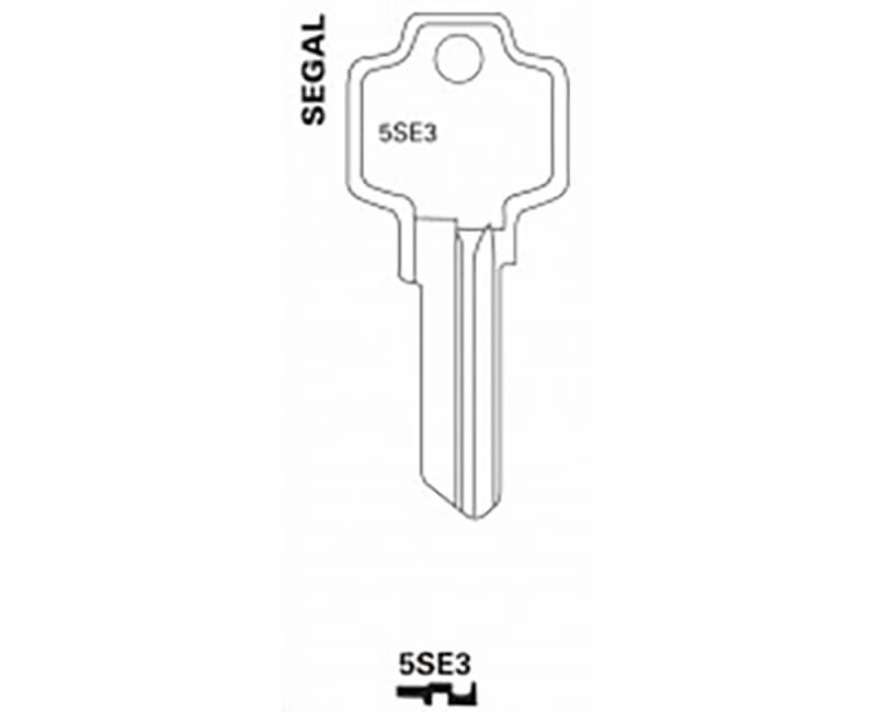 Key Blanks - Segal K9 Master 5 Pin Square Head