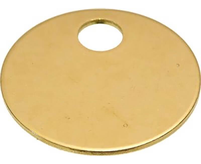 """1-1/4"""" Brass Tag - 100 Per Box"""