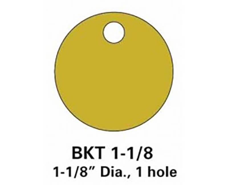 """1-1/8"""" Brass Tag - 100 Per Box"""