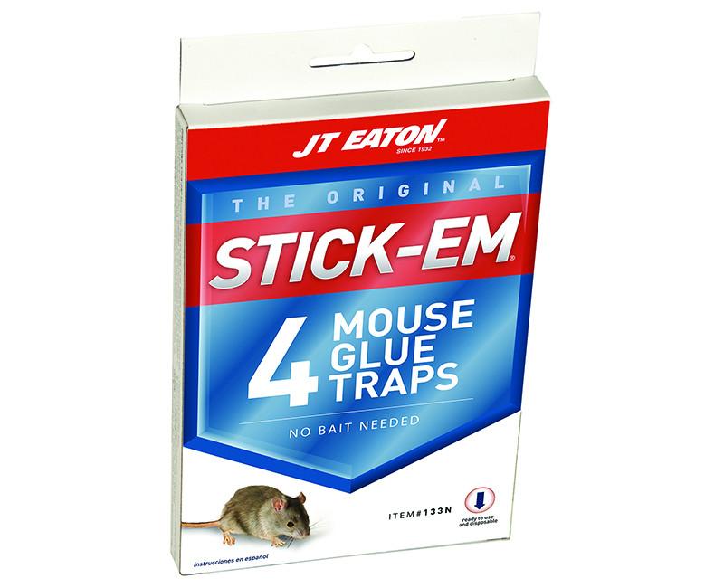 """3"""" X 4"""" Stick-Em Mouse Trap - 4 Per Pack"""