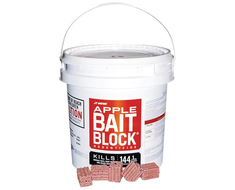 709-AP BAIT BLOCK APPLE FLAVOR 72 2OZ BLOCKS PER PAIL 9LB