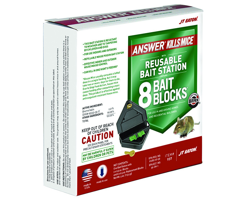 1/4 Lb. Refillable Mouse Bait Station