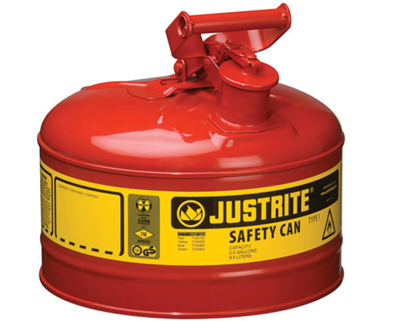 2.5 Gal. Metal Gas Can - Type 1 Red