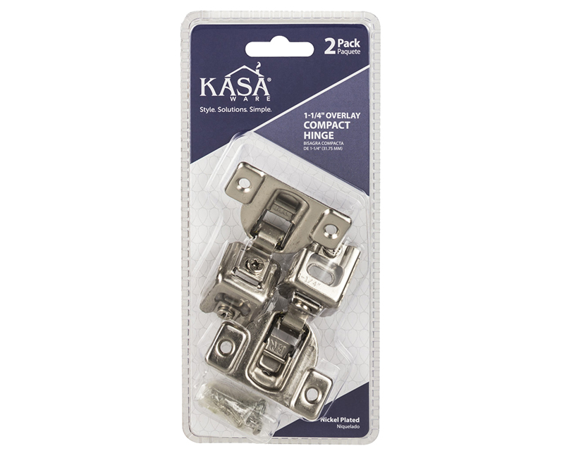"1-1/4"" OVERLAY COMPACT HINGE 2-PACK"
