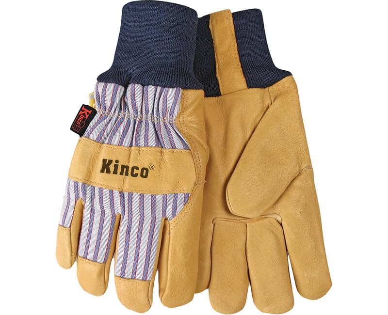 Knit Wrist Pigskin Leather Glove - Large